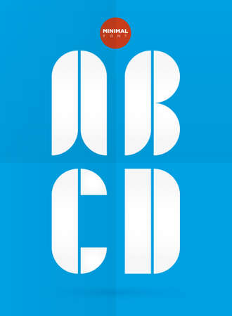 Vector graphic decorative design letters in a set 向量圖像