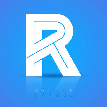 Vector graphic elegant font with sample text  symbol  alphabet  Letter R Ilustrace