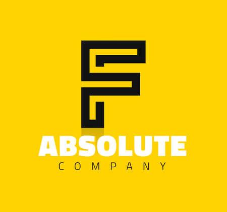 symbol: Simbolo grafico linea creativa alfabeto  Lettera F