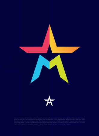 elites: Vector graphic symbol with stylized star