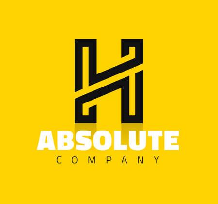 artistic logo: Vector graphic creative line alphabet symbol  Letter H