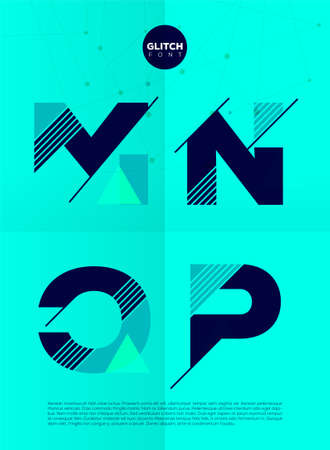 minimal: Typographic alphabet in a set. Contains vibrant colors and minimal design on a minimal abstract background