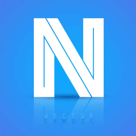 Vector graphic elegant font with sample text  symbol  alphabet  Letter N