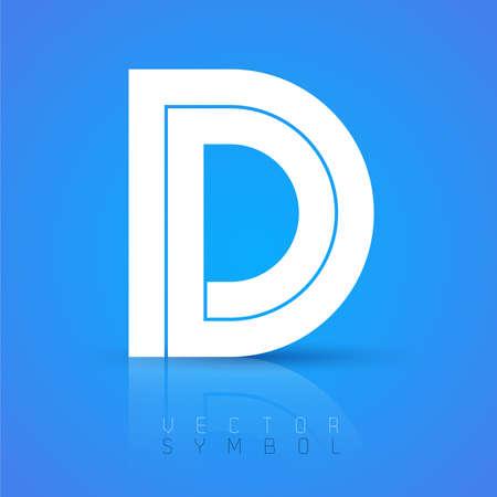 Vector grafische elegante doopvont met voorbeeld tekst  symbool  letter  Brief D