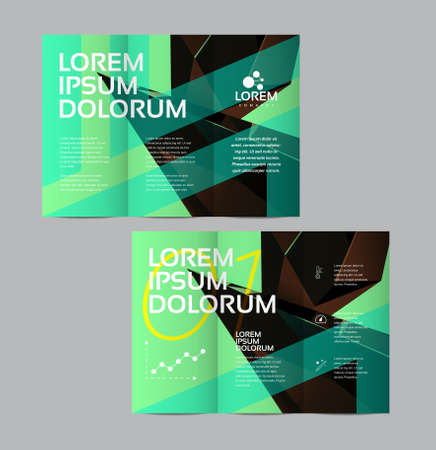 Vector graphic elegant business brochure design for your company in vibrant colors