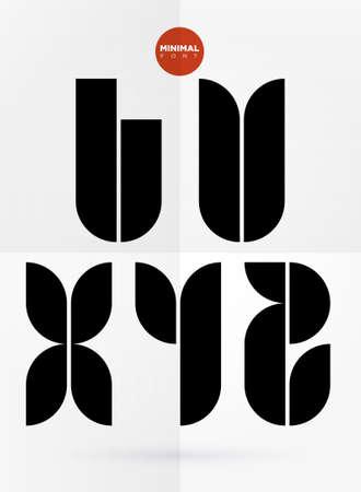 Vector graphic decorative design letters in a set Ilustrace