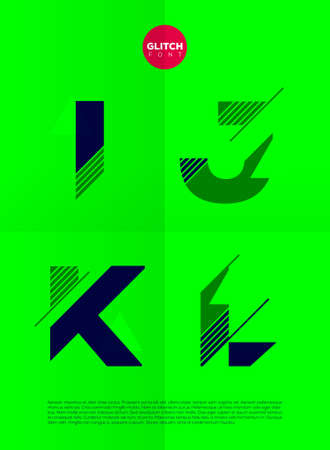 light abc: Typographic alphabet in a set. Contains vibrant colors and minimal design on a minimal abstract background