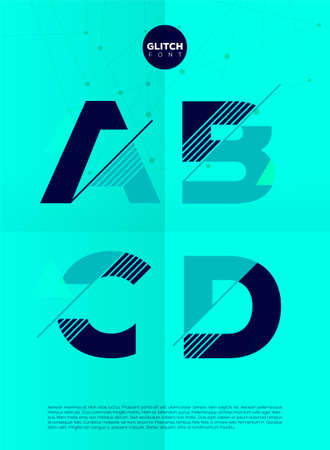 deficient: Typographic alphabet in a set. Contains vibrant colors and minimal design on a minimal abstract background