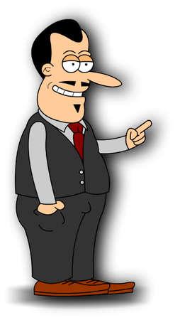 singular: Salesman Illustration