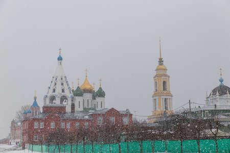 a blizzard: Blizzard in Kolomna