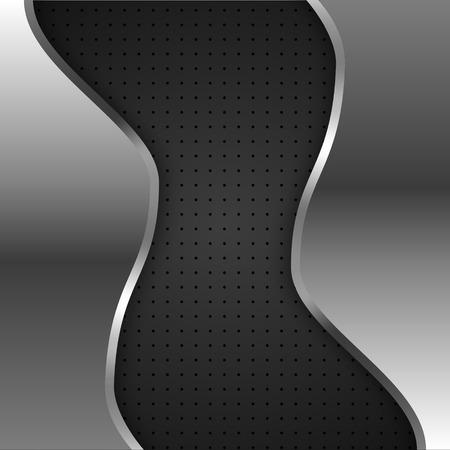ironworks: vector meta platel on black background Illustration