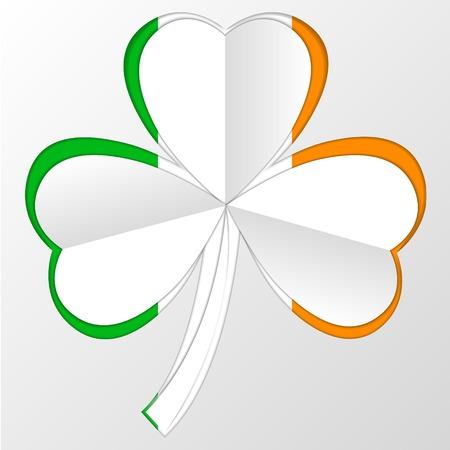 irish pride: vector Irish Flag and Symbol Combination