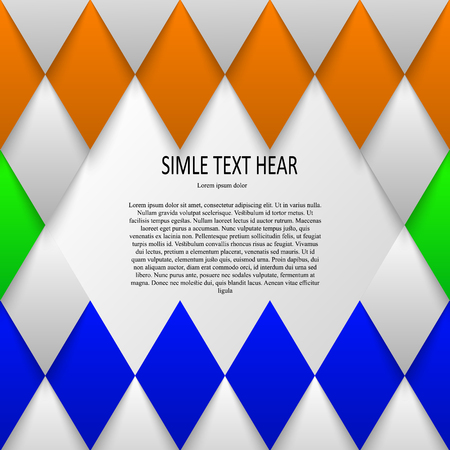Vector set of quote forms template. Colorful bright backgrounds. Watercolor overlapping brush frame.