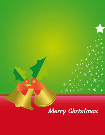 merry christmas card can be used as background  Vector