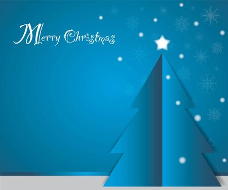 christmas card as blue concept Vector