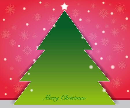 background theme color as christmas concept, christmas tree on center position Vector