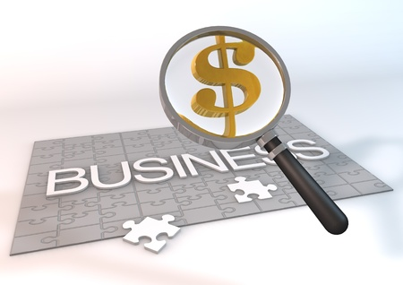 3 Dimensions successful business meaning of the jigsaw effective business  photo