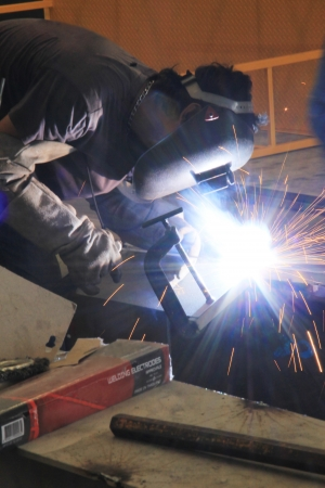 The welding sparks  photo
