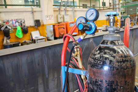acetylene: This is the tools and equipment in the industrial environment. Stock Photo