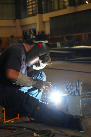 skilled: This is the operation and equipment in the industrial environment. Stock Photo