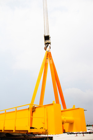 Atmosphere in the construction and installation of crane. photo