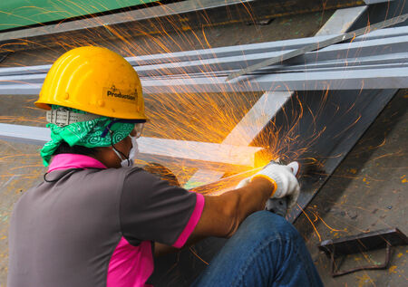 atmosphere construction: Working atmosphere in the construction, installation and safety of crane Industry. Stock Photo