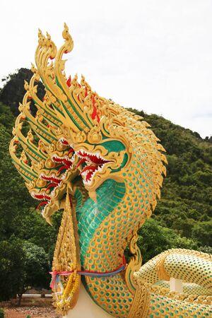 slithering: King of Nagas slithering sculpture thailand pattern