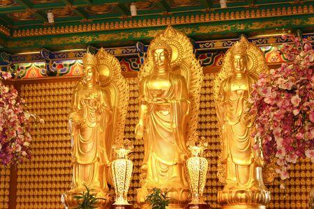 chinese buddha: Chinese Buddha of a Chinese temple in Thailand.