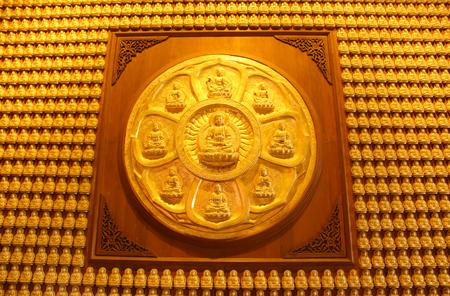 chinese buddha: Chinese Buddha of a Chinese temple as pattern