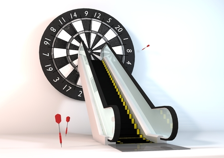 targets: Photo concept business success directly to targets on a white background.