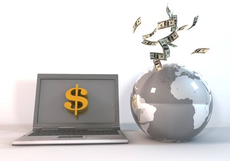 financial world: 3d rendering image to indicate the financial world concepts.