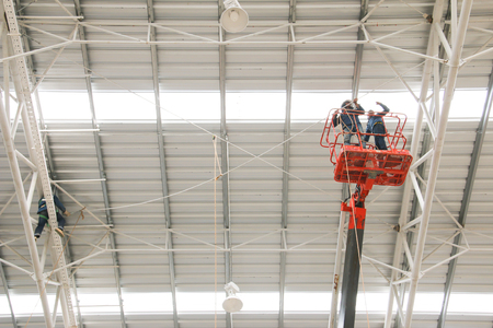 The atmosphere indoor of heavy industrial plants.