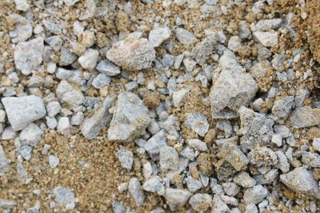 sandy soil: Atmosphere, materials and equipment in construction.