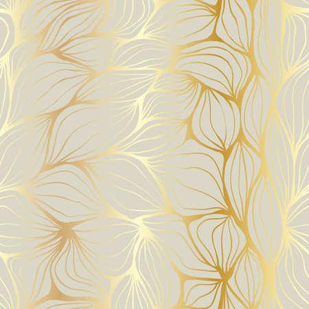 textura pelo: Doodle ondas abstractas de oro y beige. Patr�n sin fisuras.