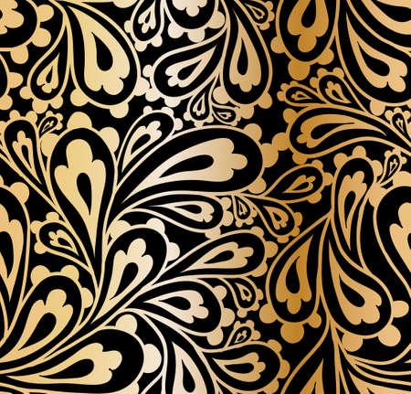 Doodle paisley seamless pattern. 向量圖像