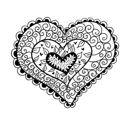 Doodle textured heart.