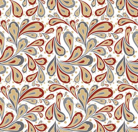 Doodle seamless paisley pattern.