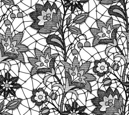 Floral lace seamless pattern. 矢量图像