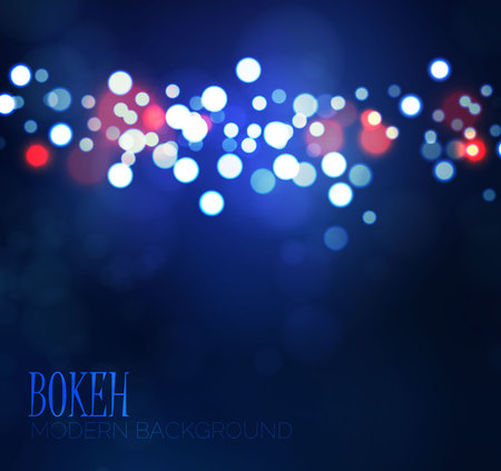 Colorful blue ans red bokeh background for your design Illustration