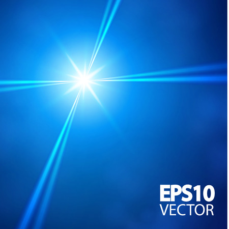 Blue star and spotlights for your design