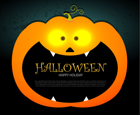 Halloween Party Design template, with pumpkin, bats and place for text. Halloween Party Design template, with pumpkin, bats and place for text. Vector illustration Illustration