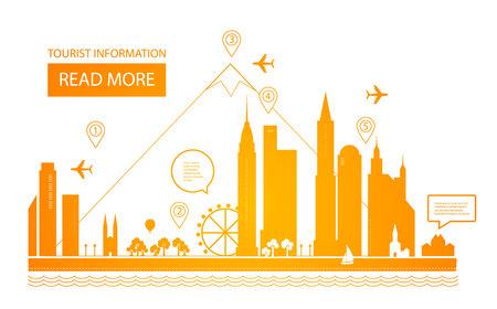Urban Landscape. Real Estate Background. Infographic Design. City Day. City scape. Vector illustration 일러스트
