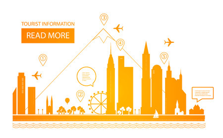 Urban Landscape. Real Estate Background. Infographic Design. City Day. City scape. Vector illustration 矢量图像