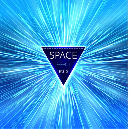 Star warp in hyperspace icon design illustration Illustration