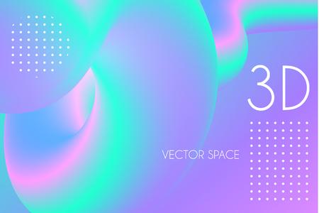 3D Gradient Design. Colorful Abstract Composition. Liquid Color Shape. Vector illustration Illustration