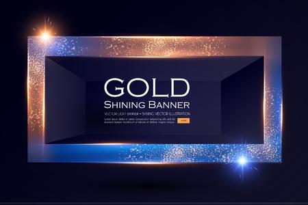 Elegant Shining Banner with Glitter Light Effect. Vector illusratration
