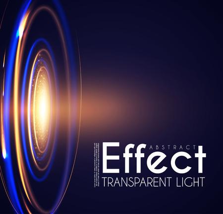 Futuristic Light Effcet, Illuminated Scene. Magical Portal. Shining Spotlights. Ilustração Vetorial
