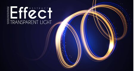 Moion Light Effect. Lens Flare. glowing Spyral. Abstract Shining Background. Trendy Magic Design. Vector Illustration