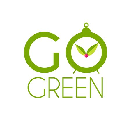 Go green badge design template. Save nature.