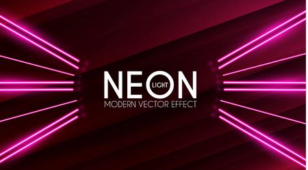 Magic Neon Light Effect. Motion Beam Design. Colorful Futuristic Space.